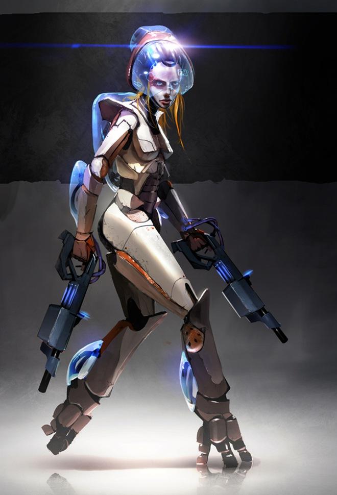 Futuristic Battle Armor Female Mtrv Info