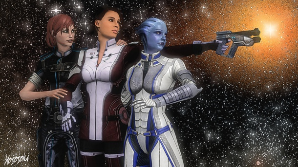 Mass effect liara and jack sealing the deal - 1 9
