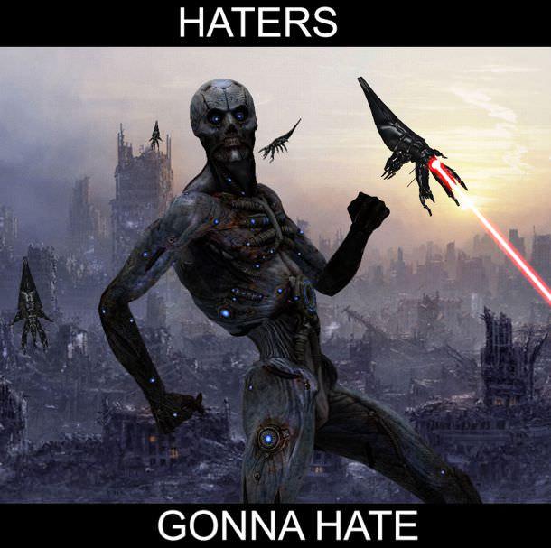 haters gonna hate mass effect husk meme
