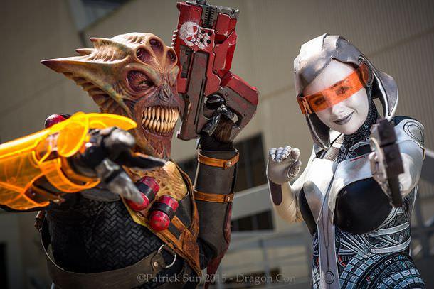 Vorcha and EDI Dragoncon 2015 Cosplay Photographs