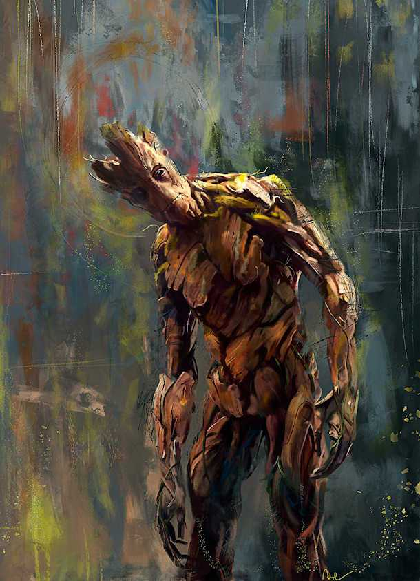 I am Groot by Wisesnail Art and Groot Quote