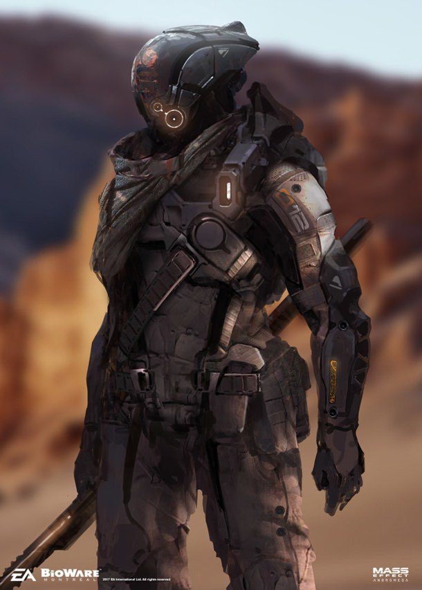Early Mass Effect Andromeda Pathfinder Concept by Brian Sum