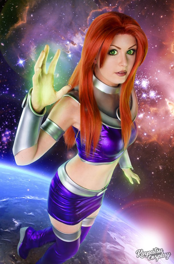Kinpatsu Cosplay As Starfire From Teen Titans
